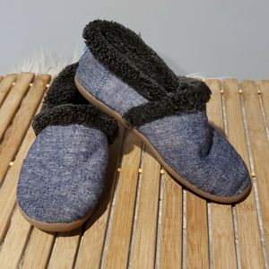 Tom's childs slippers faux fur